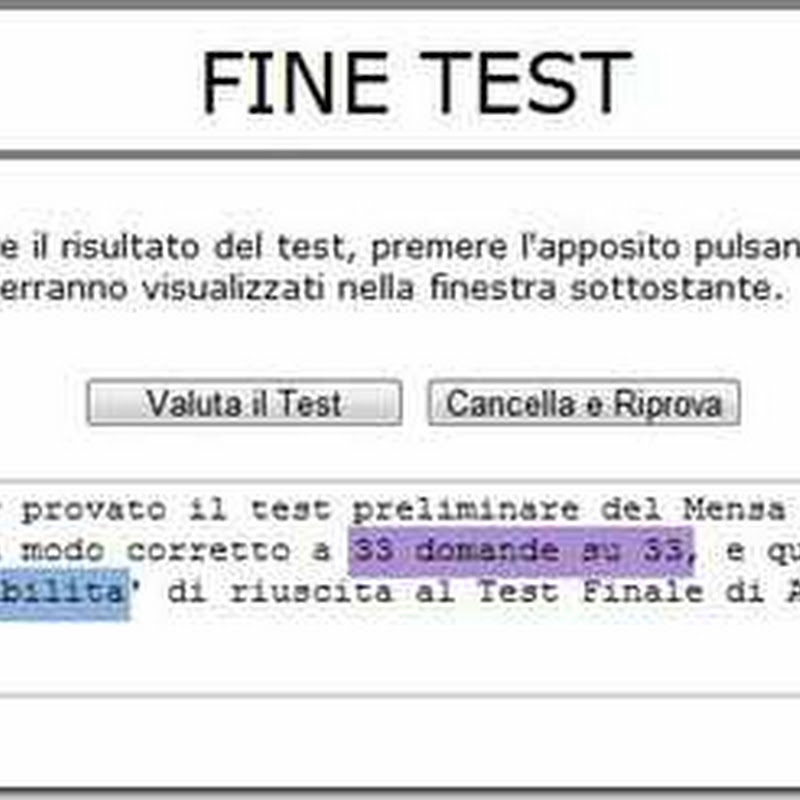 TEST QI GRATIS ITALIANO